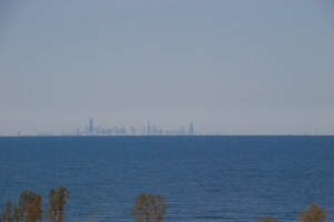 big city across the lake