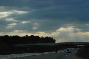 driving away from a weather front